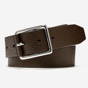 Cole Haan 38 Pebble Leather Belt Java British Tan